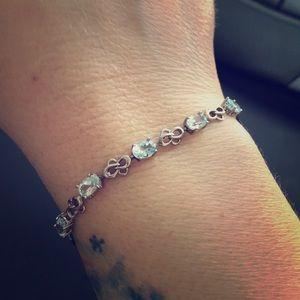 Jewelry - ‼️CLEARANCE‼️Silver Blue Topaz Aquamarine Bracelet
